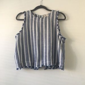 Anthro Cloth & Stone Button Back Top M